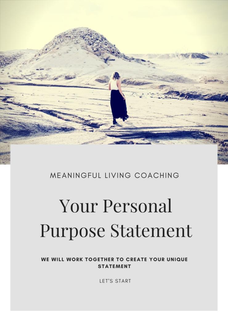 personal purpose statement