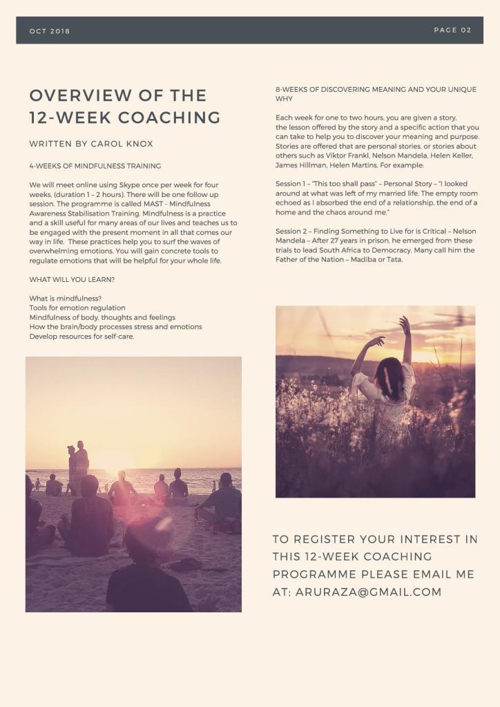 12-week coaching package