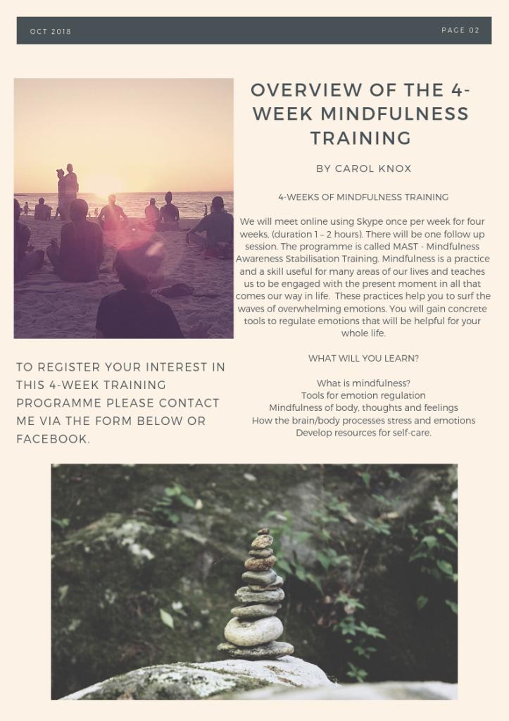 4-week mindfulness training